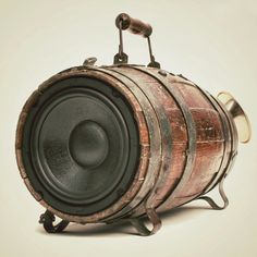 Boomcase (speaker box made from vintage barrel)