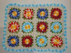 flores coloridas tapete
