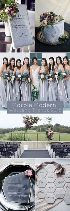Modern Marble Wedding Decoration Ideas for 2017 and 2018