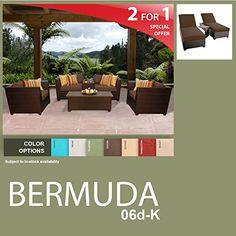 Bermuda 9 Piece Outdoor Wicker Patio Furniture Package BERMUDA06dK * You can get additional details at the image link. (This is an affiliate link) #PatioFurnitureandAccessories
