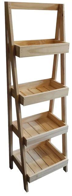 organizador estanteria de baño, cocina, macetas en madera