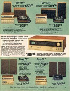1978 Radio Shack Catalog Low-res page 39 of 168 Retro Advertising, Vintage Advertisements, Vintage Ads, Home Audio Speakers, Hifi Audio, Audio Room, Retro Appliances, Speaker Amplifier, Audio Sound