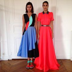 Drenched in colour. Roksandailincic doing what she does best for SS15
