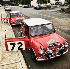 Ideas for classic cars poster mini coopers Best Classic Cars, Classic Mini, Vintage Racing, Vintage Cars, Austin Mini, Car Nursery, Mini Car, Range Rover Classic, Morris Minor