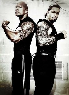 Dwayne Johnson and Roman Reigns.