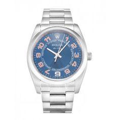 Rolex Air-King Blue Arabic Oyster Steel Unisex Watch 114200
