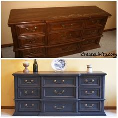refurbished dresser into buffet   have an old dresser if so you could turn it into a dining room buffet ...