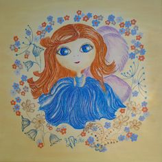 Apollenka - fairy for happiness USD 30,00 + packing and postage reproduction pictures - aquarelle paper format 20x20cm