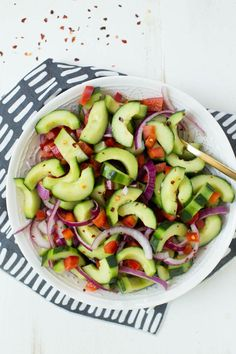 Thai Cucumber Salad (no bell peppers; what can I substitute?)