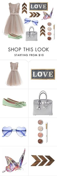 """""""LOVE."""" by fashion2religion ❤ liked on Polyvore featuring Little Wardrobe London, Parlane, Pretty Ballerinas, Hermès, Terre Mère, Jane Lee McCracken, WALL and love"""
