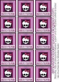 EMPEZANDO A EMPEZAR: Todo para tu fiesta Monster High - Imprimibles descargables gratis I parte