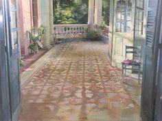 """Matteo Massagrande - ""On the terrace"" -"" Modern Art, Contemporary Art, Close To Home, End Of The World, Beautiful Paintings, Art Techniques, Art Oil, Artist At Work, Home Art"