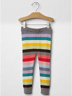 Holiday stripe sweater leggings | Gap