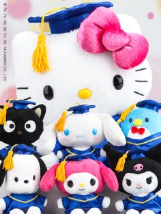 Sanrio class of 2014! Graduation plushes for you to celebrate.