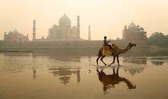 Taj Mahal, from across Yamuna by Michael Foley Photography