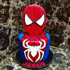 15 Spiderman Cake Ideas That Are a Must For a Superhero Birthday Spiderman Birthday Cake, 3rd Birthday Cakes, Pretty Birthday Cakes, Superhero Cake, Birthday Cookies, Boy Birthday Parties, Spider Cake, Cake Decorating Videos, Kids Party Themes