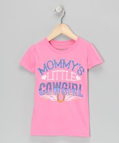 Pink 'Mommy's Little Cowgirl' Tee - Toddler