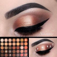 life changing eye makeup tips to take you from beginner to pro 11 ~ thereds. Paleta Morphe, Morphe 35o, Morphe Eyeshadow, Makeup Morphe, Eyeshadows, Airbrush Makeup, Makeup Eye Looks, Eye Makeup Steps, Simple Eye Makeup