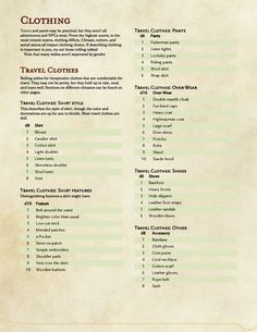 The Grinning Wyrm D&D A quick rolling table for clothing based on The post The Grinning Wyrm D&D A quick rolling table for clothing based on appeared first on Win Dessert. Dungeons And Dragons Rules, Dnd Dragons, Dungeons And Dragons Homebrew, Dungeon Master Screen, Dm Screen, Dnd Stories, Rolling Table, Dungeon Master's Guide, Dnd 5e Homebrew