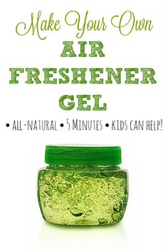 Homemade Air Freshener Gel - You can make a dozen jars of this in just five minutes for pennies using your favorite essential oils! | via @HousewifeHowTos