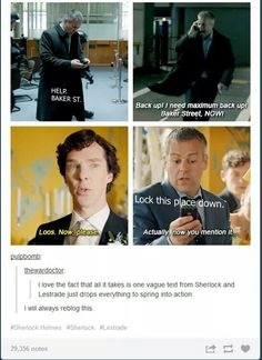 Sherlock and Lestrade