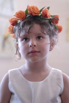 Flower Girl head wreath for Summer or Fall - by Heather Murdock of The Blue Orchid