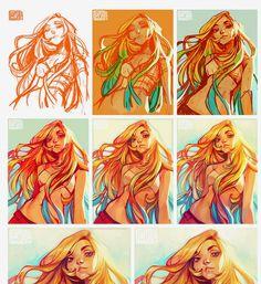 Loish painting process…