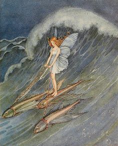 """The Fairy World by Ida Rentoul Outhwaite (illustration from """"Bunny and Brownie: The Adventures of George and Wiggle (1930)"""") by sofi01, via Flickr"""