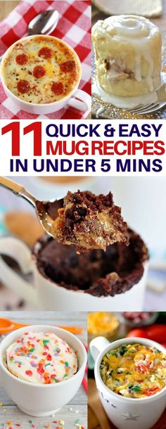 I am absolutely obsessed with this peanut butter & chocolate mug cake recipe you can make in just one minute! No more tempting leftovers in your fridge with these single serve desserts so you can indulge guilt-free! Quick & easy desserts, healthy desserts, mug recipes, easy breakfast ideas