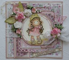 Pink birthday card - Kianel by Kianel - Cards and Paper Crafts at Splitcoaststampers