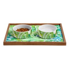 Rosie Brown Happy Dance Pet Bowl and Tray | DENY Designs Home Accessories   #pet #bowl #tray #dog #cat #art #denydesigns #homedecor