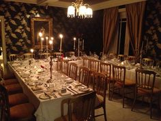 The Dining Room at Sedgeford Hall - Perfect for Intimate Weddings or Events Intimate Weddings, Wedding Venues, Table Settings, Dining Room, Events, Table Decorations, House, Furniture, Home Decor