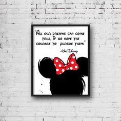 Disney Sign, Disney Art, Walt Disney, Disney Crafts, Marimekko, Minnie Mouse, Mickey Mouse Quotes, Disney Bedrooms, Mickey Mouse Wallpaper