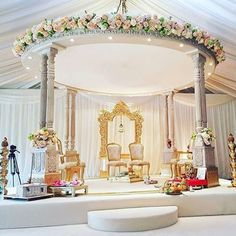 An elegant mandap setup by Indian Wedding Theme, Outdoor Indian Wedding, Indian Wedding Ceremony, Wedding Entrance, Indian Wedding Planning, Wedding Mandap, Elegant Wedding, Wedding Colors, Traditional Indian Wedding