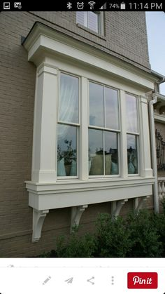 bay window exterior large windows bay windows boxed out windows window . Bay Window Exterior, Windows, House Front, Windows Exterior, House Exterior, Exterior Design, Window Trim Exterior, Exterior Trim, Exterior