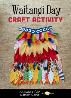 # Waitangi Day (NZ) - February 6 # Waitangi Day Craft Activity: Make a Korowai (feather cloak) with paper feathers! Korowai are taonga (treasures) that are often worn on special occasions. Craft Activities For Toddlers, School Age Activities, Eyfs Activities, Infant Activities, Kindergarten Activities, Toddler Crafts, Preschool Activities, Crafts For Kids, Waitangi Day