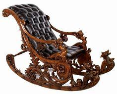 Carved furniture, Antique rocking chairs, Gothic f Unusual Furniture, Victorian Furniture, Funky Furniture, Classic Furniture, Wooden Furniture, Luxury Furniture, Vintage Furniture, Furniture Design, Steel Furniture