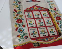 Decrative Linen Towel with Rich Colors; Holland Charm Style
