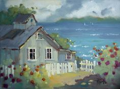 Nantucket Retreat by Joyce Hicks Painting at ArtistRising.com