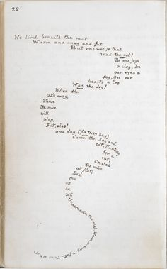 Alice's Adventures Under Ground. Page from Lewis Carroll's original (handwritten) manuscript