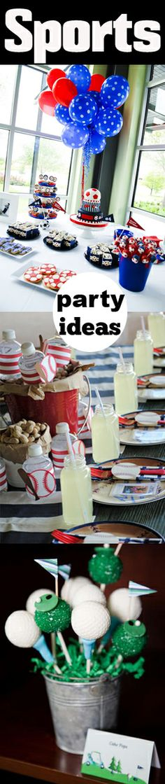 Sports Party Ideas- cute!