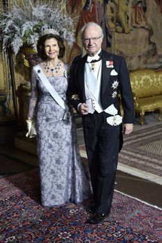 Swedish Royals attends the King's dinner for the Nobel Laureates at the Royal Palace  Dec 2017