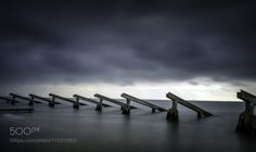 Protection by klaasfidom  Landscape Water Long exposure Seascape Fine art Holland North Holland Netherlands Cloudy Marken WBPA