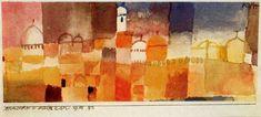 """""""Vue de Kairouan"""" de Paul Klee (1879-1940, Switzerland)"""