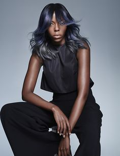 Looking for hair colour inspiration? Give your hair the wow factor with blends of cool hair colours. The midnight blues blend seamlessly into the silver greys through the ends for a beautiful alternative finish. From Francesco Group's 2016 Collection. New Hair, Your Hair, Hair Inspiration, Colour Inspiration, Cool Hair Color, Afro Hairstyles, Wow Products, Cut And Color, Hair Cuts