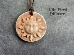 3D Rustic Sun Essential Oil Diffuser Clay by KilnFiredDiffusers