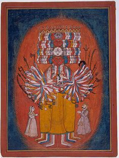 Vishwarupa, a Cosmic form of Vishnu,  Bhagavad Gita,  ca. 1740