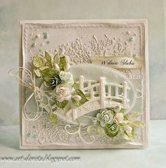 Dorota_mk: wedding with a hint of mint and violet Pretty Cards, Cute Cards, Scrapbooking, Scrapbook Cards, Tattered Lace Cards, Mixed Media Cards, Shabby Chic Cards, Spellbinders Cards, Card Making Inspiration