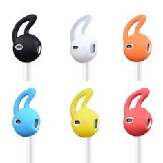2 Pairs Anti-Slip Soft Silicone Sleeve For iPhone Headphone Ear Pads Tips Hook Earpads Eartips Earbuds Cover For Earpods Airpods Iphone 5 6, Apple Iphone 5, Iphone Headphones, Ipod, Cover, Ebay, Electronics, Plugs, Tape