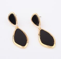 Black and gold lacquer earrings from LookOutBoutique.com